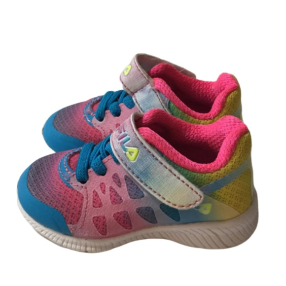 incredible prices outlet on sale thoughts on Fila Baby Rainbow Sneakers Sz 4